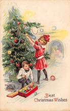 xms000963 - Christmas Post Card Old Vintage Antique Xmas Postcard