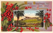 xms000965 - Christmas Post Card Old Vintage Antique Xmas Postcard