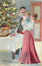 xms000967 - Christmas Post Card Old Vintage Antique Xmas Postcard