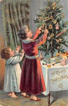 xms000971 - Christmas Post Card Old Vintage Antique Xmas Postcard