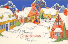 xms000973 - Christmas Post Card Old Vintage Antique Xmas Postcard