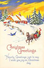 xms000975 - Christmas Post Card Old Vintage Antique Xmas Postcard