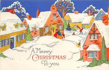 xms000979 - Christmas Post Card Old Vintage Antique Xmas Postcard
