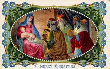 xms000981 - Christmas Post Card Old Vintage Antique Xmas Postcard