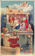 xms000985 - Christmas Post Card Old Vintage Antique Xmas Postcard
