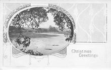 xms000989 - Christmas Post Card Old Vintage Antique Xmas Postcard