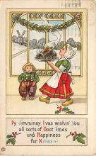 xms000991 - Christmas Post Card Old Vintage Antique Xmas Postcard