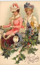 xms000995 - Christmas Post Card Old Vintage Antique Xmas Postcard