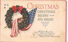 xms001003 - Christmas Post Card Old Vintage Antique Xmas Postcard
