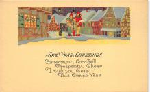 xms001009 - Christmas Post Card Old Vintage Antique Xmas Postcard