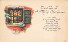 xms001011 - Christmas Post Card Old Vintage Antique Xmas Postcard