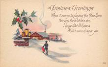 xms001013 - Christmas Post Card Old Vintage Antique Xmas Postcard
