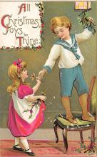 xms001015 - Christmas Post Card Old Vintage Antique Xmas Postcard