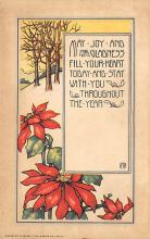xms001019 - Christmas Post Card Old Vintage Antique Xmas Postcard