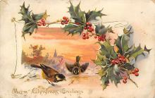 xms001023 - Christmas Post Card Old Vintage Antique Xmas Postcard