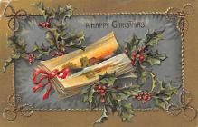 xms001025 - Christmas Post Card Old Vintage Antique Xmas Postcard