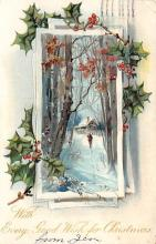 xms001027 - Christmas Post Card Old Vintage Antique Xmas Postcard