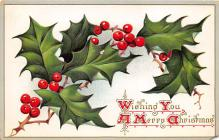 xms001029 - Christmas Post Card Old Vintage Antique Xmas Postcard