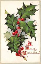 xms001031 - Christmas Post Card Old Vintage Antique Xmas Postcard