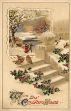 xms001037 - Christmas Post Card Old Vintage Antique Xmas Postcard