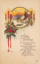 xms001043 - Christmas Post Card Old Vintage Antique Xmas Postcard
