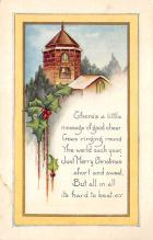 xms001045 - Christmas Post Card Old Vintage Antique Xmas Postcard