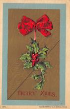 xms001051 - Christmas Post Card Old Vintage Antique Xmas Postcard