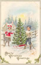 xms001055 - Christmas Post Card Old Vintage Antique Xmas Postcard