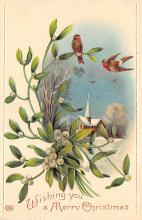 xms001057 - Christmas Post Card Old Vintage Antique Xmas Postcard