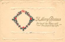 xms001059 - Christmas Post Card Old Vintage Antique Xmas Postcard