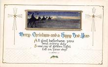 xms001065 - Christmas Post Card Old Vintage Antique Xmas Postcard