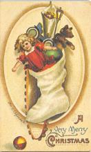 xms001069 - Christmas Post Card Old Vintage Antique Xmas Postcard