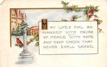 xms001073 - Christmas Post Card Old Vintage Antique Xmas Postcard