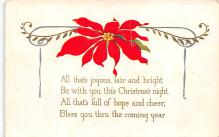 xms001075 - Christmas Post Card Old Vintage Antique Xmas Postcard