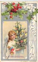 xms001079 - Christmas Post Card Old Vintage Antique Xmas Postcard