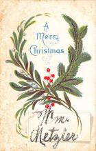 xms001083 - Christmas Post Card Old Vintage Antique Xmas Postcard