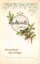 xms001087 - Christmas Post Card Old Vintage Antique Xmas Postcard