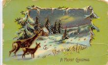 xms001091 - Christmas Post Card Old Vintage Antique Xmas Postcard