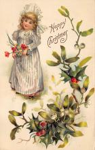 xms001093 - Christmas Post Card Old Vintage Antique Xmas Postcard