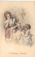 xms001099 - Christmas Post Card Old Vintage Antique Xmas Postcard