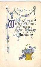 xms001105 - Christmas Post Card Old Vintage Antique Xmas Postcard