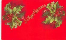 xms001107 - Christmas Post Card Old Vintage Antique Xmas Postcard