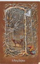 xms001109 - Christmas Post Card Old Vintage Antique Xmas Postcard