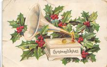 xms001113 - Christmas Post Card Old Vintage Antique Xmas Postcard