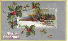 xms001121 - Christmas Post Card Old Vintage Antique Xmas Postcard