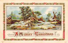 xms001133 - Christmas Post Card Old Vintage Antique Xmas Postcard