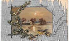 xms001137 - Christmas Post Card Old Vintage Antique Xmas Postcard