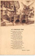 xms001141 - Christmas Post Card Old Vintage Antique Xmas Postcard