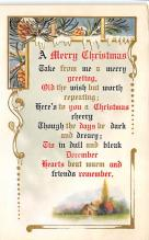 xms001147 - Christmas Post Card Old Vintage Antique Xmas Postcard