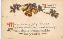 xms001155 - Christmas Post Card Old Vintage Antique Xmas Postcard